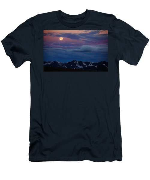Moon Over Rockies Men's T-Shirt (Athletic Fit)