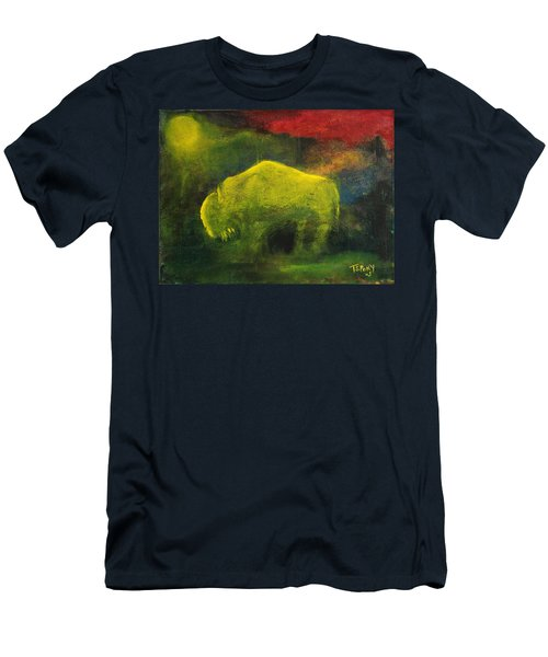 Moonlight Buffalo Men's T-Shirt (Slim Fit) by Barbie Batson