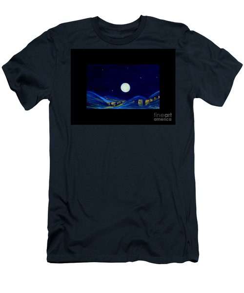 Moonlight. Winter Collection Men's T-Shirt (Athletic Fit)