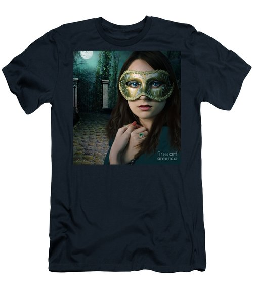 Moonlight Rendezvous Men's T-Shirt (Slim Fit) by Linda Lees