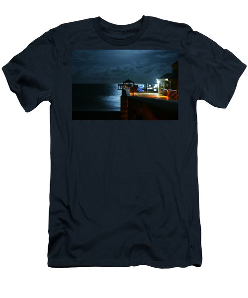 Moonlit Pier Men's T-Shirt (Athletic Fit)