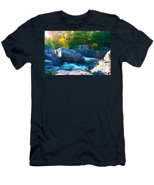 Morning In Eau Claire Dells Men's T-Shirt (Slim Fit) by Tiffany Erdman