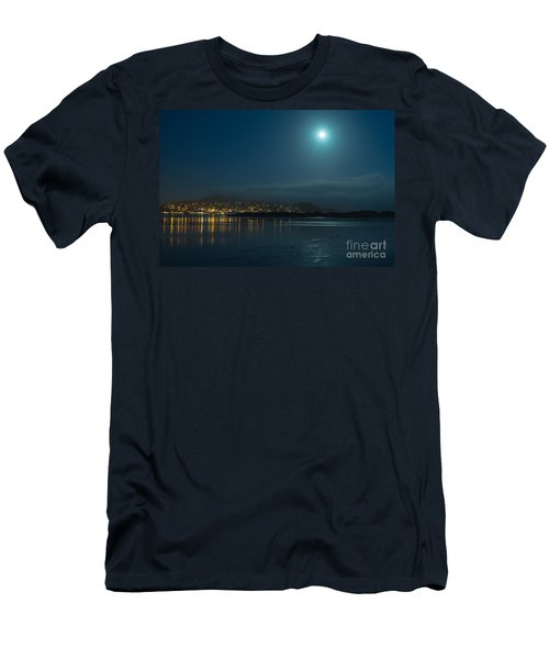 Morro Bay At Night Men's T-Shirt (Athletic Fit)