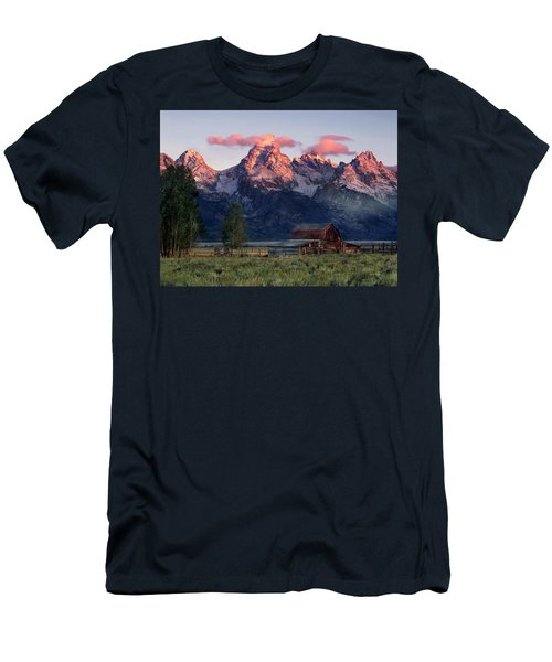Men's T-Shirt (Slim Fit) featuring the photograph Moulton Barn by Leland D Howard