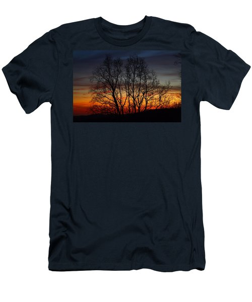 Men's T-Shirt (Slim Fit) featuring the photograph Mountain Sunset by Kathryn Meyer