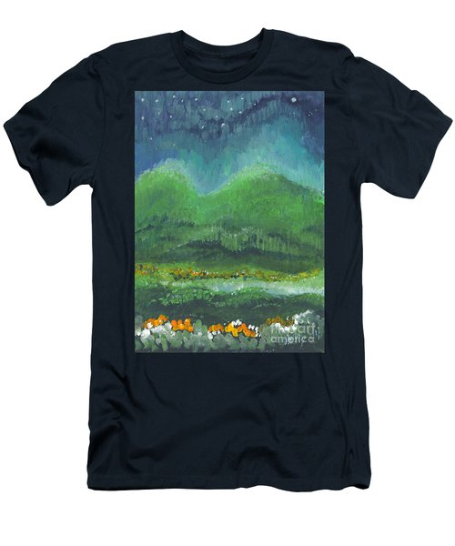 Mountains At Night Men's T-Shirt (Athletic Fit)