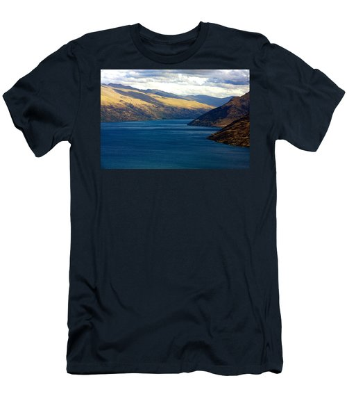 Men's T-Shirt (Slim Fit) featuring the photograph Mountains Meet Lake #2 by Stuart Litoff