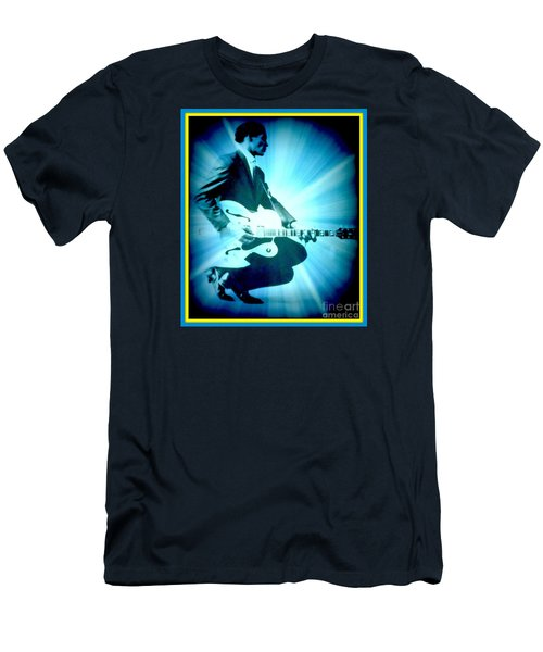 Mr Chuck Berry Blueberry Hill Style Edited 2 Men's T-Shirt (Slim Fit) by Kelly Awad