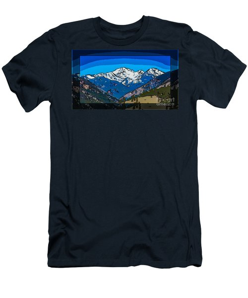 Mt Gardner In The Spring Abstract Painting  Men's T-Shirt (Athletic Fit)