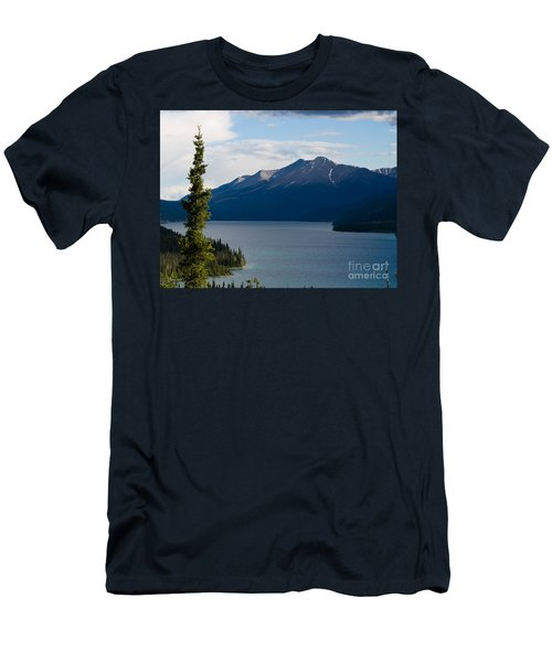 Muncho Lake Men's T-Shirt (Slim Fit) by Tara Lynn