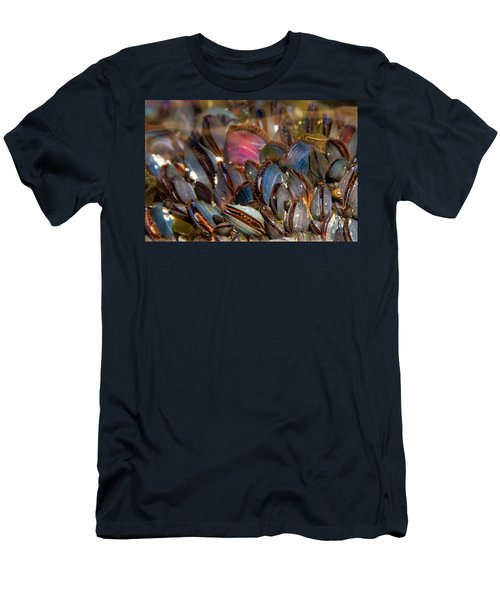 Mussels Underwater Men's T-Shirt (Slim Fit) by Peggy Collins