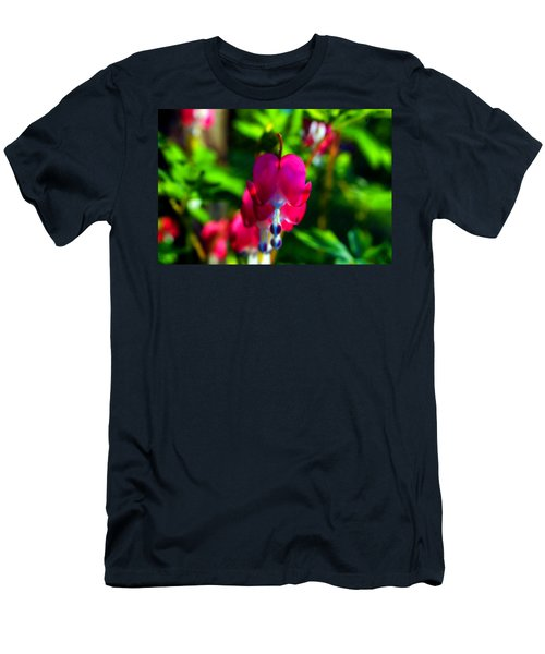 Men's T-Shirt (Slim Fit) featuring the photograph My Bleeding Heart by Peggy Franz