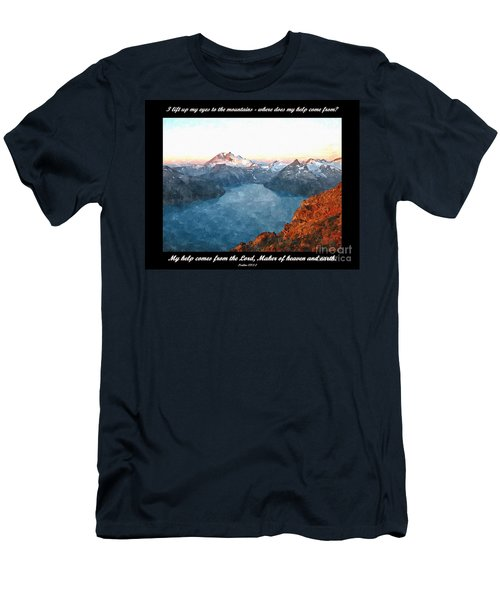 My Help Comes From The Lord Men's T-Shirt (Slim Fit) by Sara  Raber