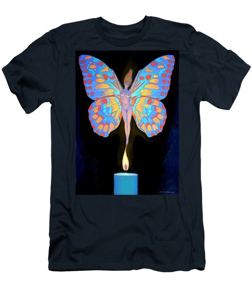 Naked Butterfly Lady Transformation Men's T-Shirt (Athletic Fit)