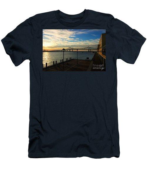 Men's T-Shirt (Slim Fit) featuring the photograph New Orleans Bridge by Erika Weber