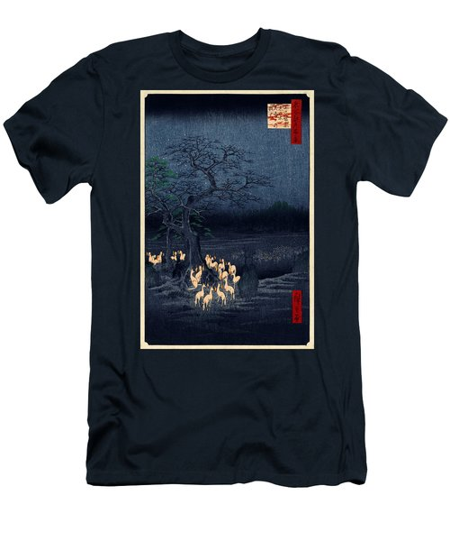 New Years Eve Foxfires At The Changing Tree Men's T-Shirt (Athletic Fit)