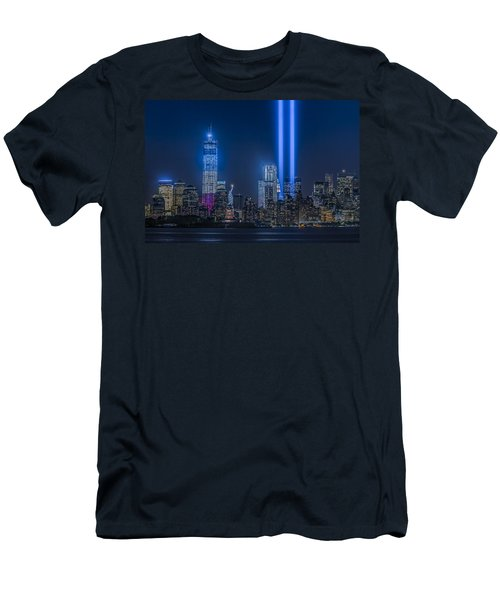 New York City Tribute In Lights Men's T-Shirt (Athletic Fit)
