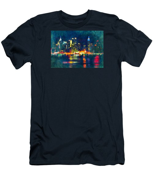 New York State Of Mind Abstract Realism Men's T-Shirt (Athletic Fit)