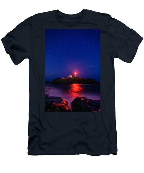 Night At Nubble Light Men's T-Shirt (Athletic Fit)