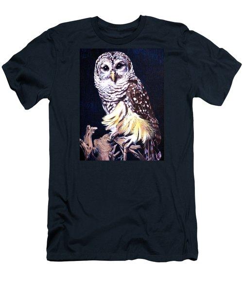 Night Owl Men's T-Shirt (Slim Fit) by Vivien Rhyan