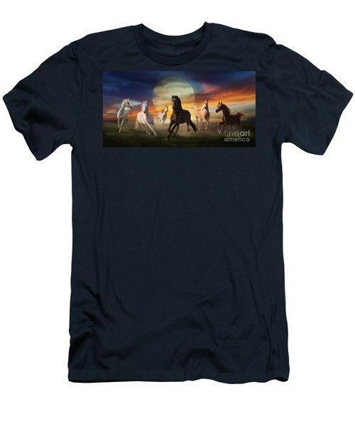 Night Play Men's T-Shirt (Slim Fit) by Melinda Hughes-Berland