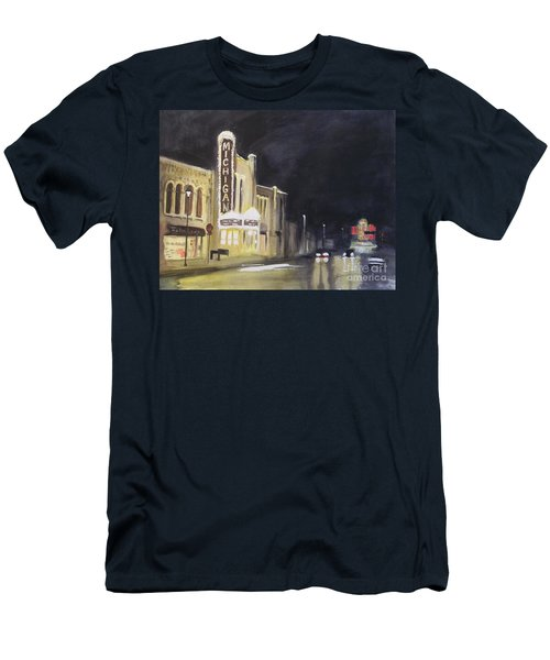 Night Time At Michigan Theater - Ann Arbor Mi Men's T-Shirt (Athletic Fit)
