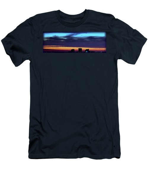 Men's T-Shirt (Slim Fit) featuring the photograph Nightfall Over Pensacola Beach by Faith Williams