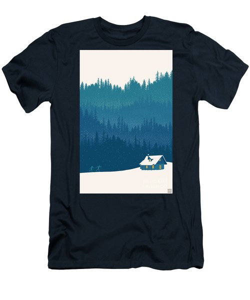 Nordic Ski Scene Men's T-Shirt (Athletic Fit)