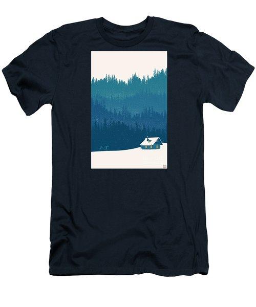 Nordic Ski Scene Men's T-Shirt (Athletic Fit)