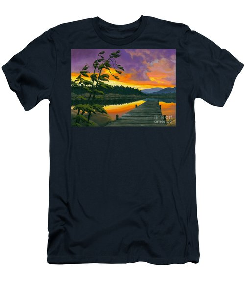 After Glow - Oil / Canvas Men's T-Shirt (Slim Fit) by Michael Swanson