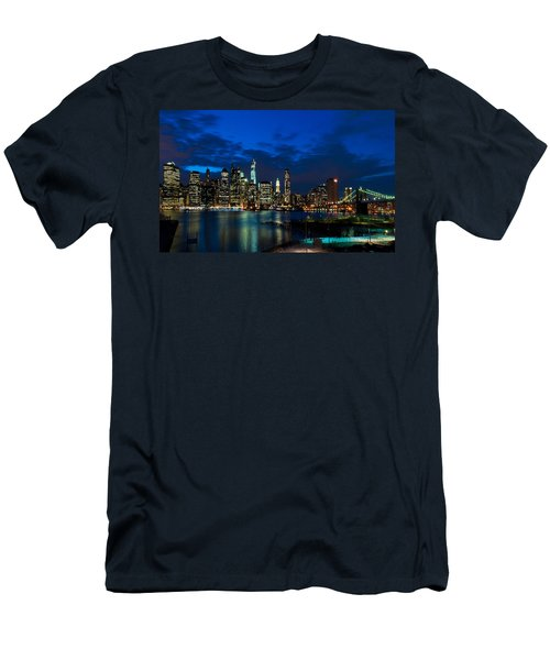 Ny Skyline From Brooklyn Heights Promenade Men's T-Shirt (Athletic Fit)