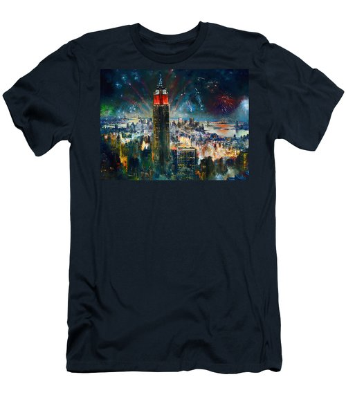 Nyc In Fourth Of July Independence Day Men's T-Shirt (Athletic Fit)