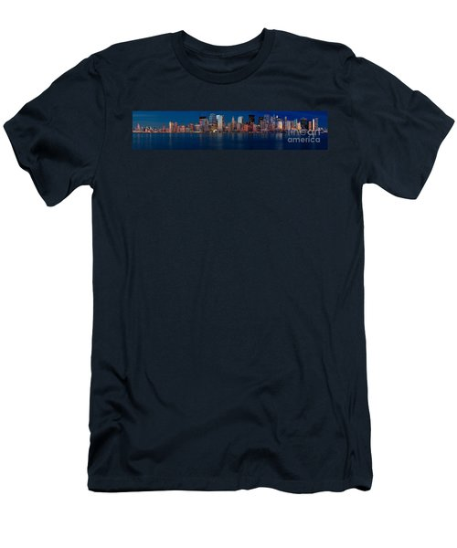 Men's T-Shirt (Slim Fit) featuring the photograph Nyc Pano by Jerry Fornarotto