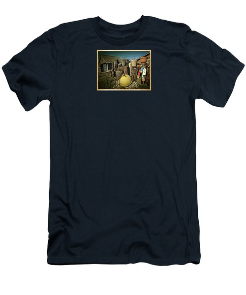 Men's T-Shirt (Slim Fit) featuring the photograph Nye Beach Buoys by Thom Zehrfeld