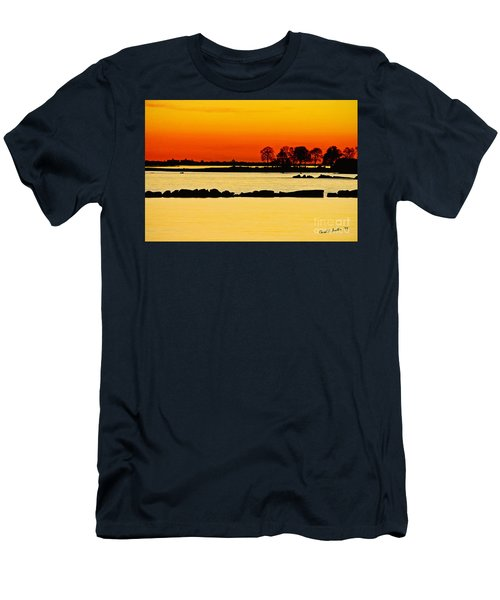 Orange Sunset Men's T-Shirt (Slim Fit) by Carol F Austin
