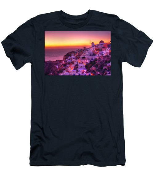 Oia Sunset Men's T-Shirt (Slim Fit) by Midori Chan