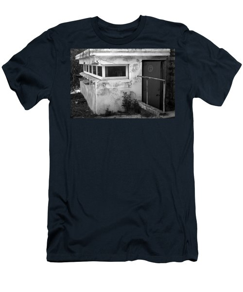 Men's T-Shirt (Slim Fit) featuring the photograph Old Army Lookout by Miroslava Jurcik
