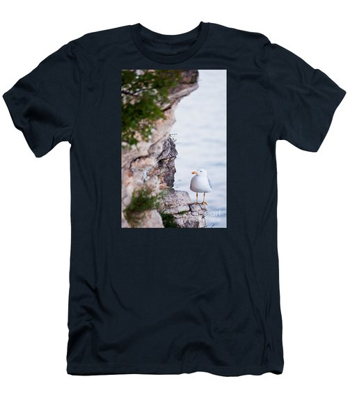 On The Cliffs Of Rocca Di Manerba Men's T-Shirt (Athletic Fit)