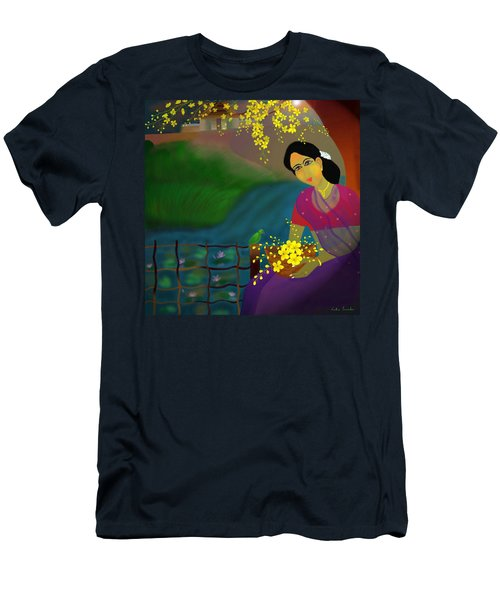 Men's T-Shirt (Slim Fit) featuring the digital art On The Eve Of Golden Shower Festival by Latha Gokuldas Panicker