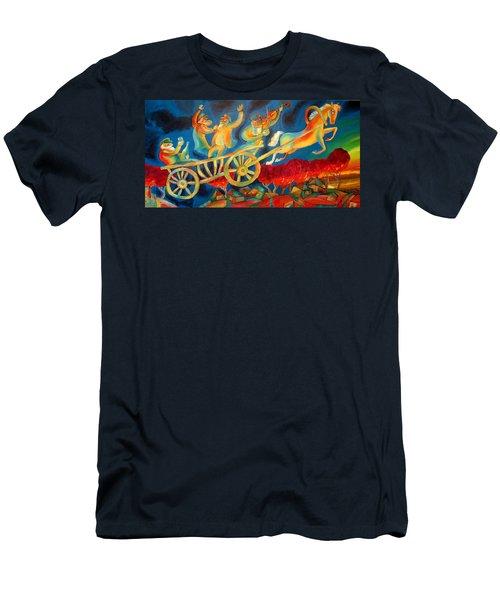 On The Road To Rebbe Men's T-Shirt (Slim Fit) by Leon Zernitsky