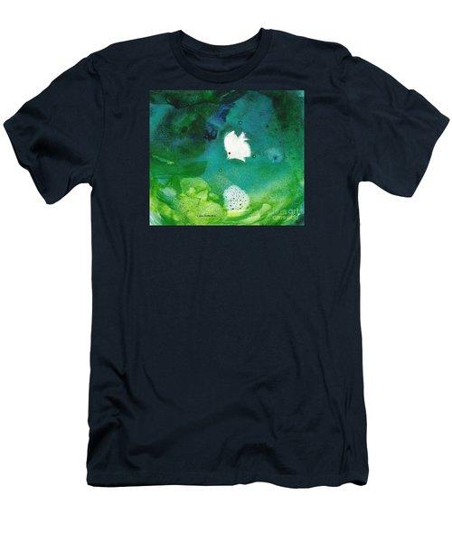 One White Men's T-Shirt (Slim Fit) by Joan Hartenstein