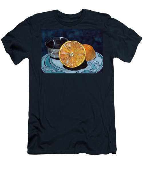 Orange And Silver Men's T-Shirt (Slim Fit) by Barbara Jewell