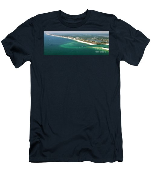 Looking N W Across Perdio Pass To Gulf Shores Men's T-Shirt (Athletic Fit)
