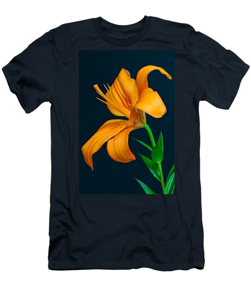 Orange Lily Profile Men's T-Shirt (Athletic Fit)