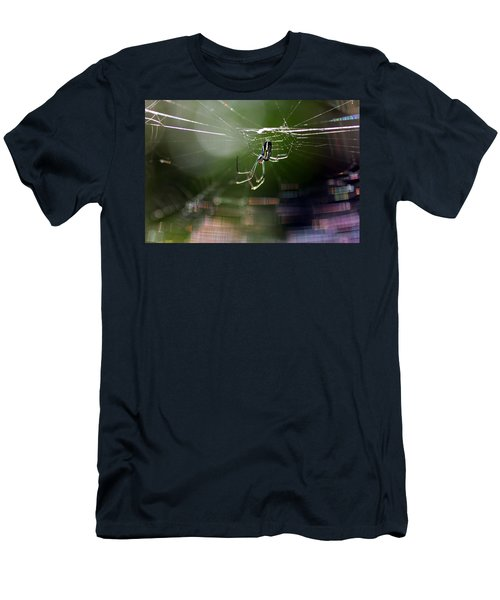 Men's T-Shirt (Slim Fit) featuring the photograph Orchard Web by Greg Allore