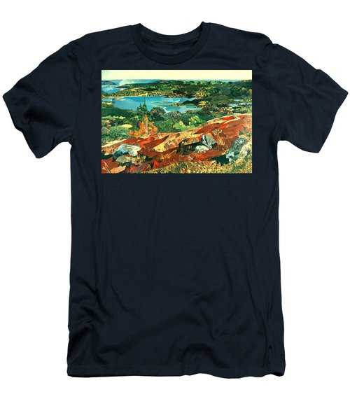 Overlooking The Bay Men's T-Shirt (Slim Fit) by Robin Birrell