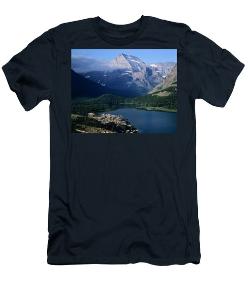 Overview Of A Hotel, Glacier National Men's T-Shirt (Athletic Fit)