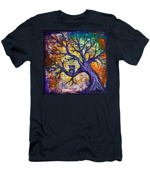 Wisdom Of Gratitude Men's T-Shirt (Slim Fit) by Agata Lindquist