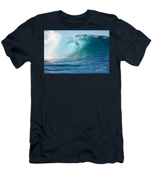 Pacific Big Wave Crashing Men's T-Shirt (Slim Fit) by IPics Photography