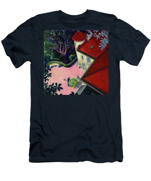 Painting Of A House With A Patio Men's T-Shirt (Athletic Fit)
